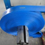 PVC souple Layflat Durit du tuyau de décharge de l'eau pour l'irrigation agricole de la pompe
