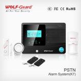 PSTN de contrôle de système de régulation d'alarme d'incendie sans fil automatique neuf de systèmes de sécurité pour la garantie à la maison Yl-007k7