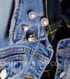 Mode Femmes Korean Rhinestone broche broches châle Dernière Pearl