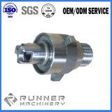 Ferragem da porta da carcaça do ferro do metal do CNC de China/punho de porta fazendo à máquina