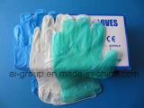 Обнаруживаемый порошок свободного виниловых перчаток для рассмотрения