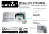 раковина кухни шара держателя верхней части нержавеющей стали 15X31-1/2 одиночная с доской стока