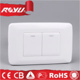 Nuovo Design Illuminated 2 Gang Electrical Wall Switch per Home