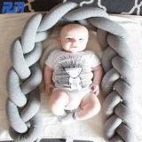 1pcs 2m/3m de largo recién nacido con nudos nudo nudo trenza de almohada cuna habitación infantil Decorbaby paragolpes cama