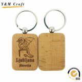 주문 로고 (Y03920)를 가진 최신 판매 나무로 되는 열쇠 고리