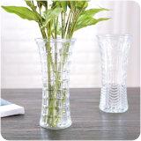 Grand vase de fleurs en verre de mariage