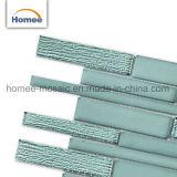 Mattonelle di vetro decorative beige per la fabbrica poco costosa delle mattonelle della parete dell'acquazzone