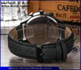 Классика кожаный планки ODM наблюдает wristwatch кварца повелительниц (WY-P17012A)