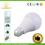 LED 플라스틱 덮개 알루미늄 A60 7W E27 글로벌 전구