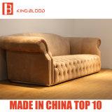 Bank Furnitures van Chesterfield van het Leer Nubuck van de Woonkamer van de luxe de Kaki