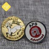 주문 금속 Kunshan 기장 상징 접어젖힌 옷깃 Pin