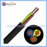 Utilisation flexible en caoutchouc du câble électrique dans un endroit sec, humide et des salles humides et à l'extérieur Câble électrique
