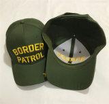 Zeichen-Form-Armee-Grün-kundenspezifische Verein-Baseballmützen