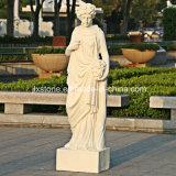 Beige Marmorgarten-Frauen-Statuen für Jahreszeiten