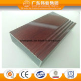 Finestra di alluminio della stoffa per tendine del grano di legno con il vetro interno dei ciechi di plastica