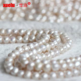 11-12mmの3mm大きい穴の宝石類を作るための円形の自然な淡水の真珠のビード