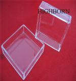 磨く正方形の形のゆとりの水晶皿