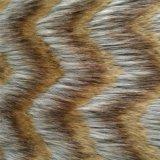 [بروون] متعدّد لون كومة حاشدة طويلة مثلّثيّة موجة قطيفة [فوإكس] فروة