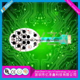 2017 Custom táctiles LED Interruptor de membrana resistente al agua para uso médico