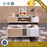 Verre aluminium moderne Partition/station de travail de bureau en bois (HX-8N0620)