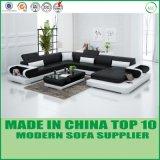 Sofa moderne de forme du cuir véritable U de meubles de bureau
