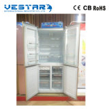 Refrigerador side-by-side do anúncio publicitário do aço inoxidável de 2 portas