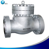 La norma de acero inoxidable con bridas de alta presión la válvula de retención de giro
