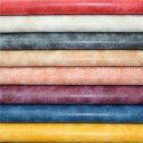 Bonne solidité des couleurs en cuir nubuck synthétique enduit PU