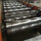 Farben-Stahldach glasig-glänzendes Fliese-Walzen, das Maschine bildet