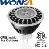 MR16 5W regulable cree Repuestos LED Spotlight para iluminación de exterior