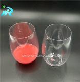glaces de vin en plastique rouges de modèle de 10oz Tritan