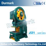 Máquina de perfuração perfurada do metal de folha da máquina da folha de metal de J21-125t