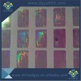 Qualité faite sur commande de collant de laser d'hologramme de garantie