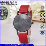 Relógio da mulher de quartzo da cinta de couro da fábrica OEM/ODM da forma (Wy-105B)