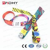 braccialetto poco costoso tessuto RFID di 13.56MHz NFC per il sistema di controllo di accesso