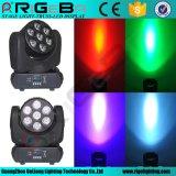 LED de alta potencia moviendo la cabeza 7*8 W RGBW 4 En1 Faro móvil