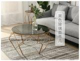J 소파 측 테이블을%s 가진 모형 유리제 커피용 탁자