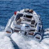Côte 580 de Liya Chine vente de fibre de verre de bateau de vitesse de 10 passagers