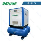 Compressor de ar giratório do parafuso da fonte de energia da C.A. com tanque extra