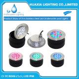 36W de acero inoxidable resistente al agua IP68 LED multicolor de la luz de la piscina bajo el agua de fuente