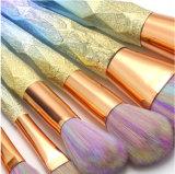 7pcs Crystal Rainbow maquillage de la poignée Jeu de balais