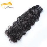 Negro natural cabello virgen sin procesar mano atada pelo Brasil