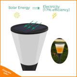 Linterna LED de forma Wineglass llama resistente al agua de la luz solar de jardín 96 LED Lámpara de parpadeo