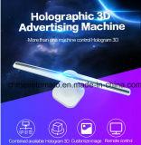 3D olho nu ventilador LED holográfica para publicidade interior com a imagem viva e de alta resolução