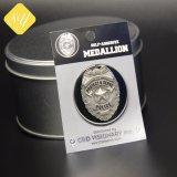 Distintivo d'argento di Pin del risvolto del collare degli animali placcato abitudine poco costosa