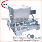 Horizontale Pasten-Einfüllstutzen-Füllmaschine mit mischendem Becken-Zoll-Zufuhrbehälter