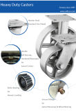 Hochleistungsschwenker-Roheisen dreht die 5 Zoll-industrielle Stahlfußrolle
