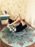 Estera redonda de la yoga de la meditación del diseño único de OM de la mandala del loto de la acuarela