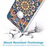 Mandala colorida de lujo piel absorbente llena de la cubierta del caso de shell TPU de la carrocería de 360 grados del choque suave mate del frente y de la parte posterior para iPhone8