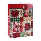 Sacs en papier enduits de cadeau d'art rouge de bille d'action de grâces de mode